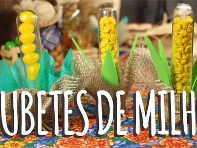 DIY - Tubetes de Milho - Festa Junina