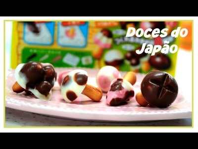 Doces do Japão Cogumelo de Chocolate . DIY Candy Kit .