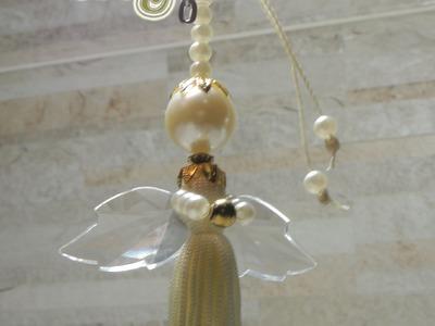 Artesanato passo a passo: Chaveiro de anjinho