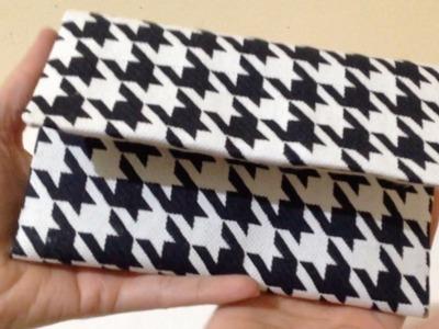 Como Fazer Bolsa de Mão em Tecido Passo a Passo - DIY Artesanato