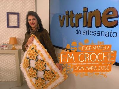Flor Amarela em Crochê com Maria José | Vitrine do Artesanato na TV