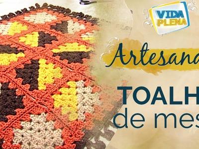 Artesanato | Tapete em Crochê - DIY | Toalha de mesa