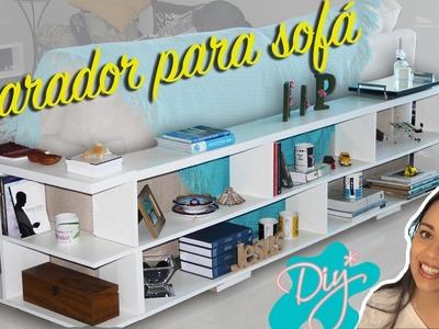 """DIY -  Aparador """"L"""" para sofá - Idéias Decoração de Sala - Decorar Estante :: Rebeca Salvador"""