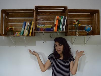 DIY: Nichos com caixotes de feira | Decoração