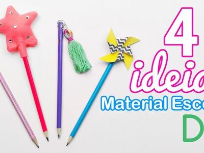 4 ideias de material escolar DIY