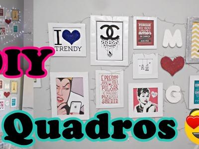 #DIY Quadros de papelão, contact e glitter #façavocêmesmo
