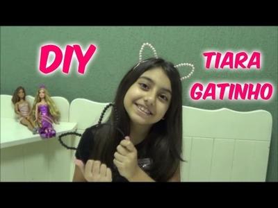 DIY - Tiara Gatinho - Julia Moraes