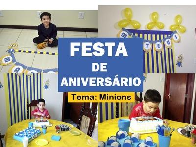 VLOG | Faça você mesma a festa do seu filho - DIY | Mateus 5 anos - Tema: Minions