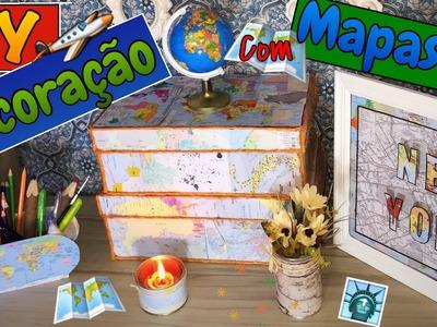 DIY - Decoração com Mapas | Fácil e Barata - Eduardo Wizard