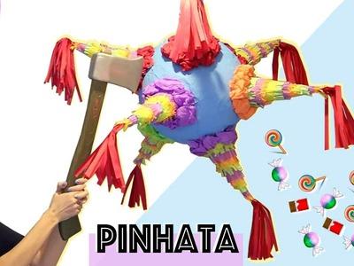 DIY: COMO FAZER UMA PINHATA + UMA SURPRESA LINDA | Paula Stephânia
