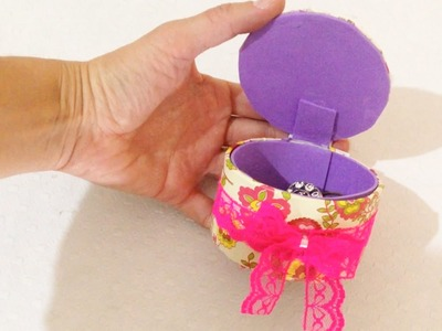 Como Fazer Porta Joias Reciclando Rolo de Fita Adesiva - DIY Artesanatos