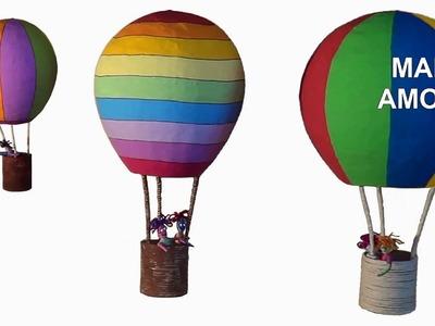 DIY Decoração Artesanato: Balão. Decoration Craft: Balloon. Artesanía Decoración: Balloon