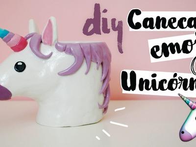 DIY: Caneca EMOJI de Unicórnio (Unicorn Emoji Mug)! por Isabelle Verona