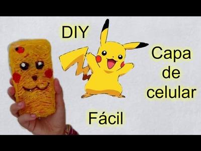 DIY -  Capinha de celular dos  Pokemons  - Cola quente  #VEDA 5