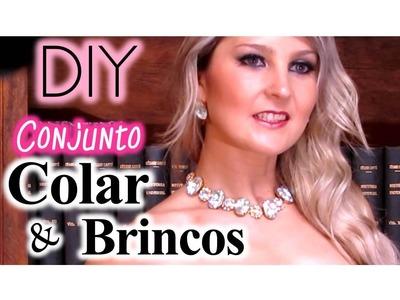 DIY ★ Conjunto de Colar & Brincos ★ Simples, Rápido & Fácil