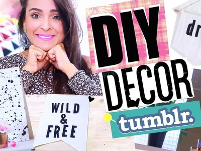 DIY: Idéias de decoração para um quarto Tumblr!! - por Aline Pepe