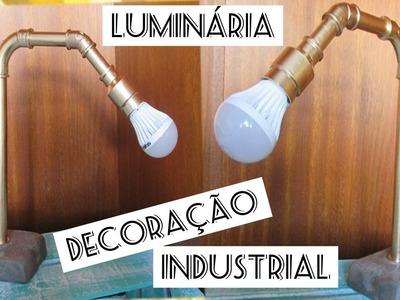 DIY :: LUMINARIA DE CONCRETO E CANO :: DECORAÇÃO INDUSTRIAL