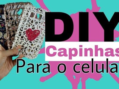 DIY | CAPINHA PARA CELULAR COM COLA QUENTE | POR GLAUCIA BRASIL