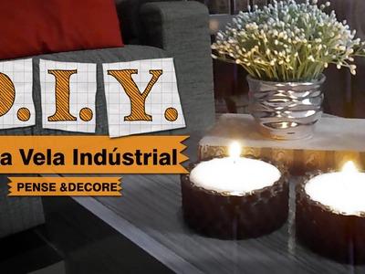 DIY -  Porta vela industrial (vídeo comemorativo 1000 inscritos)