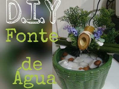 D.I.Y - Fonte de água caseira | water source housemade