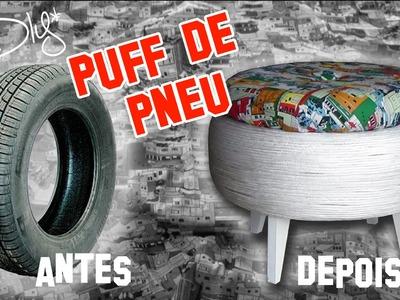 DIY - Puff de Pneu | Decoração de Ambientes :: Rebeca Salvador