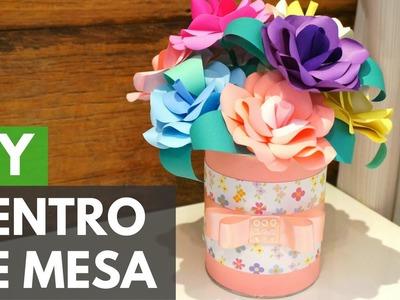 Centro de mesa com flores de papel #PapelEmTudo |DIY - Faça você mesmo