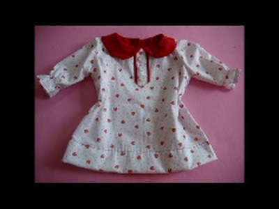 Diy Blusa infantil com gola boneca e manga - molde de 3 a 18 meses