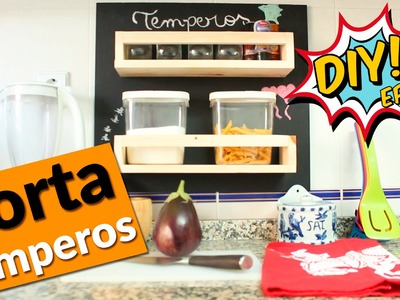 DIY - Como fazer um porta temperos para organizar a cozinha - Ep22