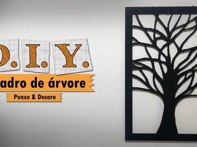 DIY - Quadro àrvore (galhos negros) Aprenda a fazer um lindo quadro com material reciclado.