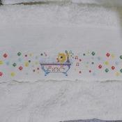 Toalha de Rosto Patinho na Banheira