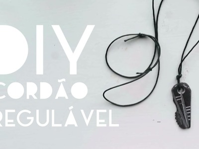 Como fazer um colar de cordão regulável com pingentes | DIY | DANIEL MOONEY