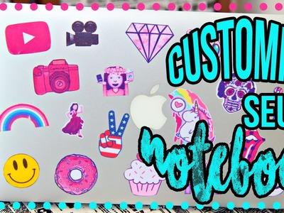 DiY: Customize seu notebook com Patches |Tatiane Xavier