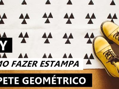 DIY Tapete geométrico | Como fazer estampa | Projeto #NãoéCópia