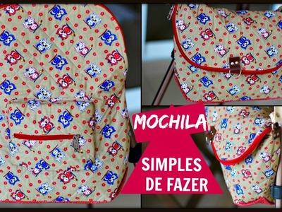 Mochila simples de  fazer o  passo a passo (DIY) Rosamutuca