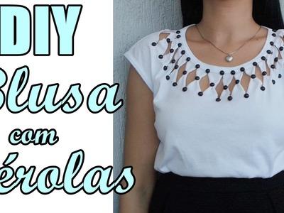 Passo a Passo: Customize blusas com Pérolas ABS Shine Beads® + E6000 DIY Feat. Suellen Redesign