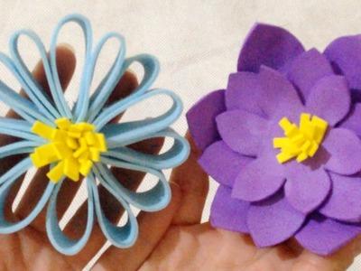 Como Fazer Flores em Papel EVA Passo a Passo - DIY Artesanatos