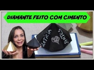 DIY | DIAMANTE FEITO COM CIMENTO |PESO DE PAPEL