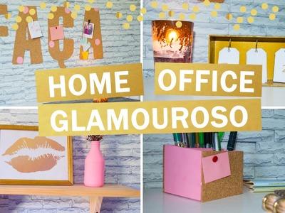 Ideias FÁCEIS e BARATAS de decoração para HOME OFFICE - DIY