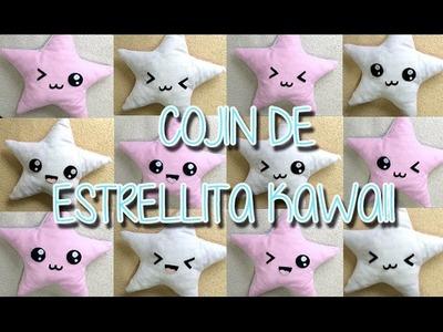 Cojín estrellita kawaii sin coser en fieltro o paño lenci  | Manualidades kawaii fáciles | クッション星