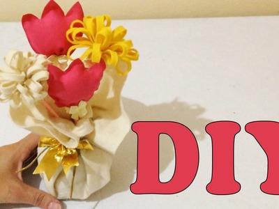 Como Fazer Peso de Porta com Feltro e Flores - Artesanato DIY