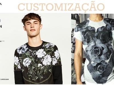 DIY- FAÇA VOCÊ MESMO!, Camiseta inspirada na loja ZARA