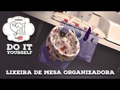 DIY ::: Lixeira de Mesa Organizadora - By Fê Atelier
