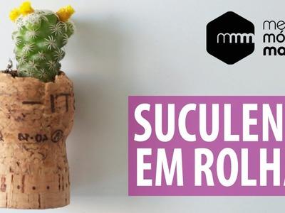 DIY: Minijardim de Cacto em Rolha