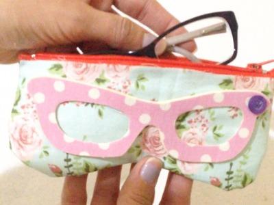 Como Fazer Porta Óculos em Tecido Sem Costura - DIY Artesanato