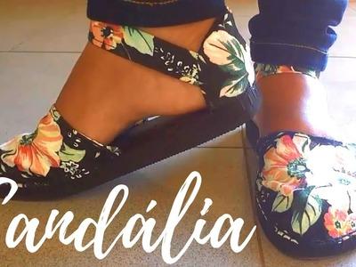 DIY - Como fazer sandálias de chinelos de borracha - Magna Dias