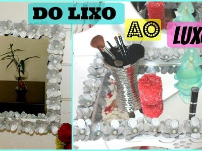 DIY.DO LIXO AO LUXO.ESPELHO DECORATIVO COM CAIXA DE OVOS-SIMPLESMENTE CI