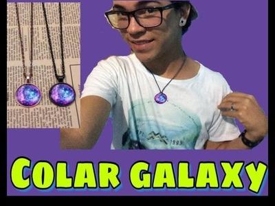 DIY | faça um colar galaxy sem gastar nada
