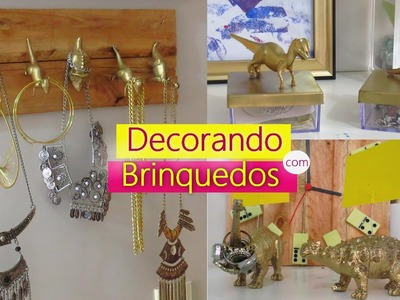 DIY: 4 FORMAS CRIATIVAS DE DECORAR COM BRINQUEDOS - Por Lorena Lima