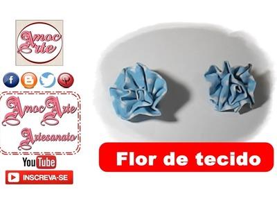 Diy - FLOR DE TECIDO - AmocArte Artesanato