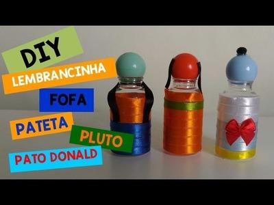 Lembrancinhas festa Mickey - DIY: Garrafinha do Pateta, Pato Donald e Pluto